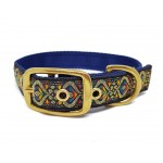 Golden swirl buckle collar 25mm - 15-18""