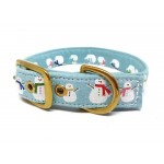 Snowmen fabric buckle collar 25mm - 15-18""